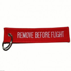 "Porte clé ""Remove before flight"""