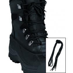 Lot de 2 lacets noir rond 220cm