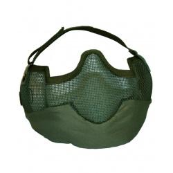 Demi-masque grillagé Kaki