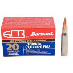 Cartouche BARNAUL 308 W 7.62*51 FMJ