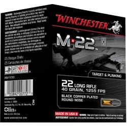 Munition 22 LR Winchester boite de 500