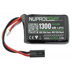 Batterie LIPO 11.1v 1300 mAh NUPROL
