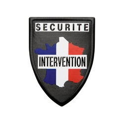 Ecusson SECURITE INTERVENTION plastique