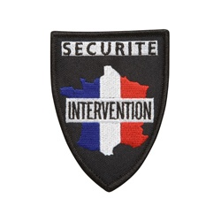 Ecusson SECURITE INTERVENTION tissu