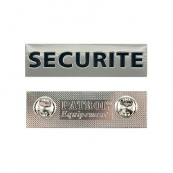 Plaque métal SECURITE