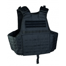 Gilet tactique plate carrier Laser cut Noir