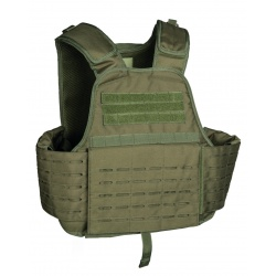 Gilet tactique plate carrier Laser cut Kaki