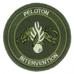 Ecusson Peloton d'Intervention tissu Basse visibilité kaki