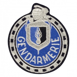Ecusson Gendarmerie motard Départementale tissu