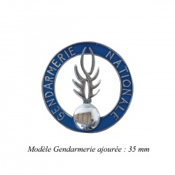 Médaille porte-carte Gendarmerie ajourée