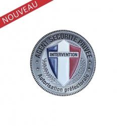 Médaille porte-carte Sécurité Privée