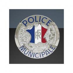 Médaille porte-carte Police Municipale