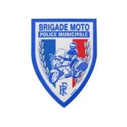 Ecusson Police Municipale Brigade Motorisée plastifié