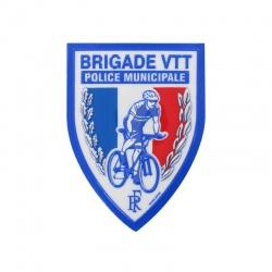 Ecusson Police Municipale Brigade VTT plastifié