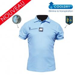 Polo gendarmerie bleu COOLDRY très allégé HOMME