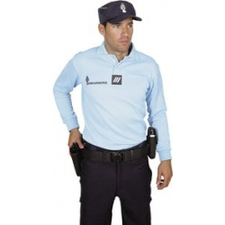 Polo gendarmerie homme manche longue