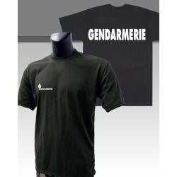 Tee-shirt Gendarmerie Départementale noir