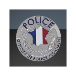 Médaille porte-carte Police OPJ
