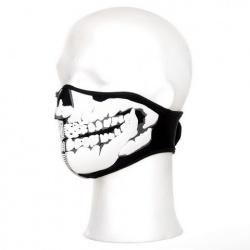 Demi-masque néoprène tête de mort