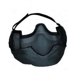 Demi-masque grillagé Noir