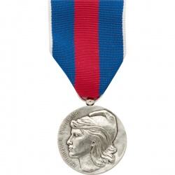 Médaille ordonnance Service Militaire Volontaire Bronze Argenté