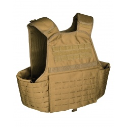 Gilet tactique plate carrier Laser cut Coyote