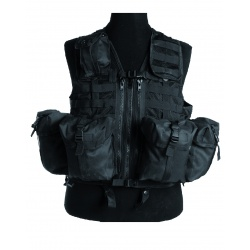 Gilet tactique multipoches Noir