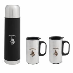 Coffret bouteille isotherme + 2 mugs LEGION