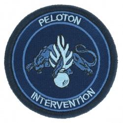 Ecusson Peloton d'Intervention tissu Basse visibilité bleu