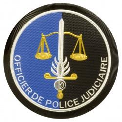 Ecusson Gendarmerie Officier de Police Judiciaire Plastique