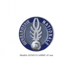 Médaille porte-carte Gendarmerie Flamme