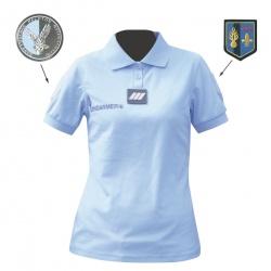 Polo gendarmerie bleu COOLDRY très allégé FEMME