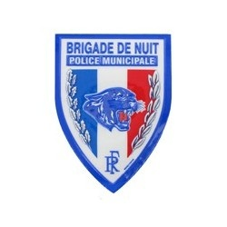 Ecusson Police Municipale Brigade de Nuit plastifié