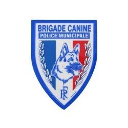 Ecusson Police Municipale Brigade Canine plastifié