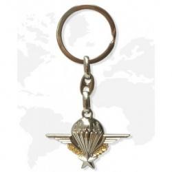 Porte clé métal Parachutiste