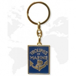 Porte clé métal Troupe de Marine