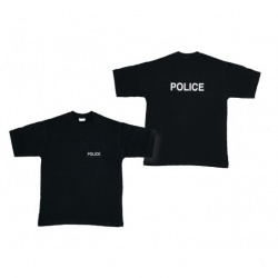 Tee-shirt noir marquage Police