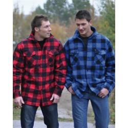 Chemise canadienne Noire-Bleu