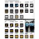 Galon poitrine tissu gendarmerie