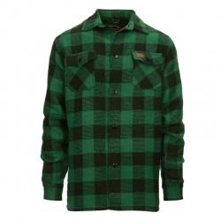Chemise canadienne Noire-Vert