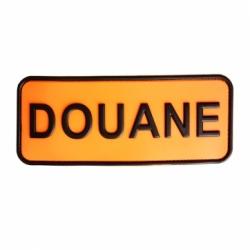 Brassard Douane orange PVC